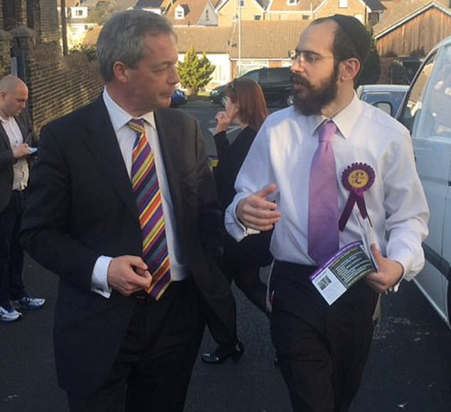 Mr Odze, pictured right, a former law student, is a confidant of former party leader Nigel Farage, pictured left