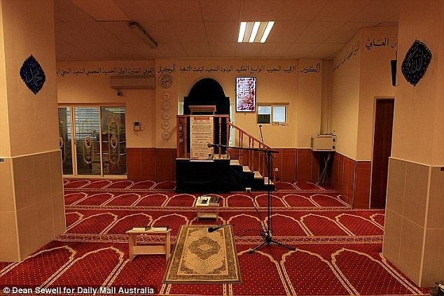 The teenage boy who shot dead Sydney police employee Curtis Cheng gave an ISIS salute to a security camera at a Parramatta mosque (pictured) before carrying out the murder