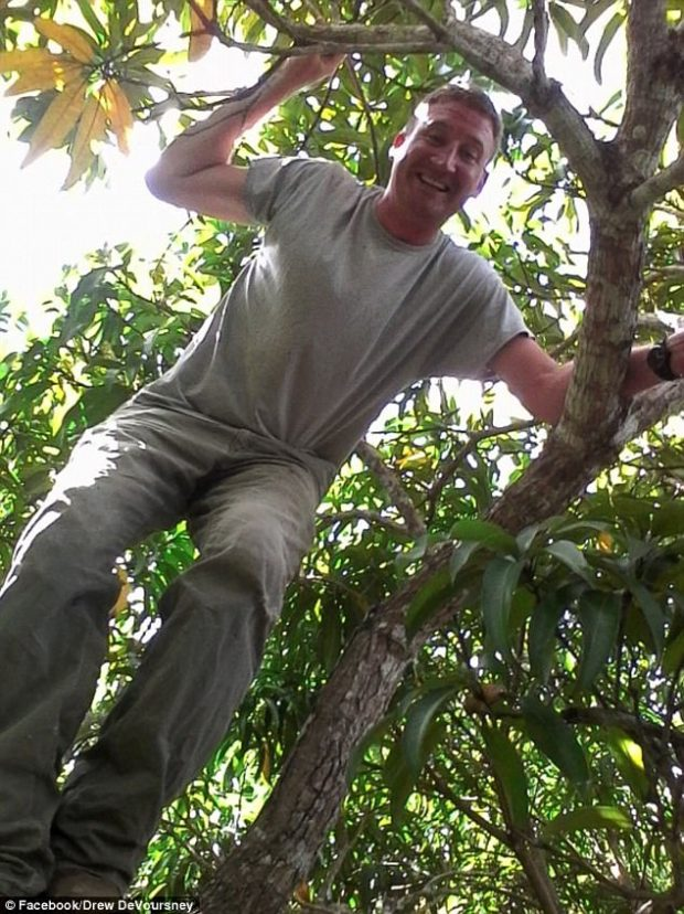 The couple was last seen leaving Scotty's Bar and Grill in Corozal, near Matus's home. Her car was found abandoned in a sugar cane field but the bodies were found 'nowhere near the truck', police say (Drew Voursney pictured)