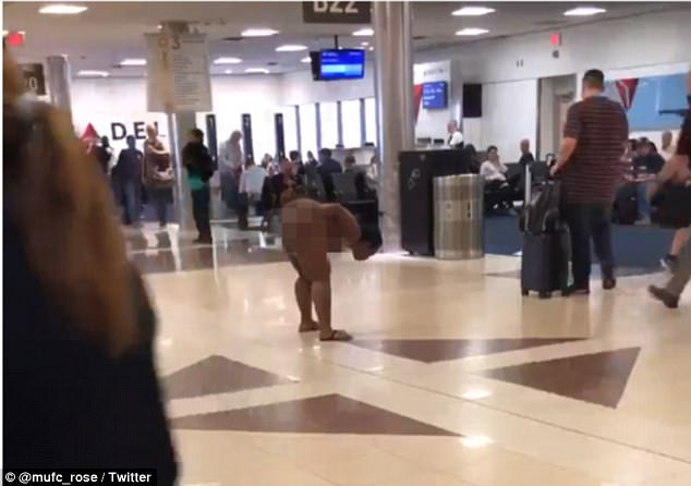 The incident happened on Friday afternoon inside the popular airport's Terminal B where hundreds of Delta Airlines flights arrive and depart daily