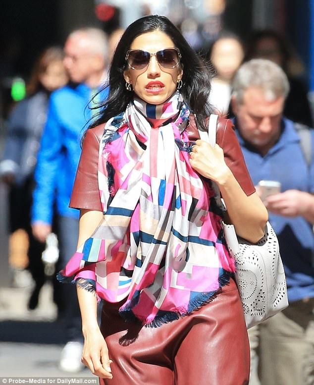 A day after FBI Director James Comey revealed his agency had investigated Huma Abedin, she was spotted in New York heading to work