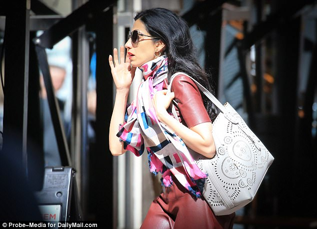 In forwarding Secretary of State Hillary Clinton's emails to Anthony Weiner, Huma Abedin (pictured) inadvertently sent the disgraced congressman classified information