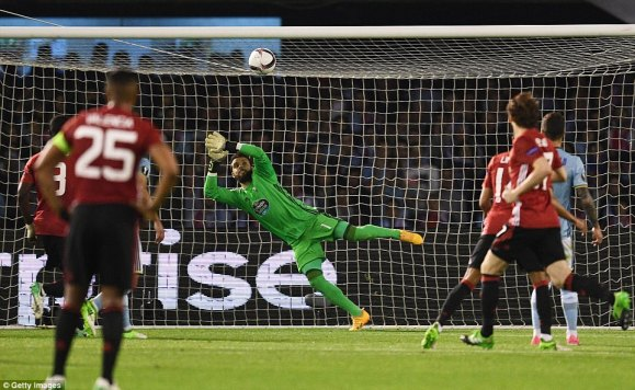 Sergio Alvarez in the Celta Vigo goal was unable to stop Rashford's second-half free-kick from hitting the back of the net