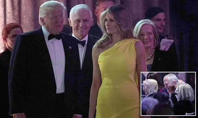Malcolm Turnbull, Trump and Melania at New York gala