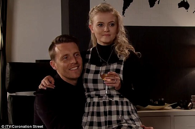 Sinister: Coronation Street viewers were left 'sickened' as Bethany Platt was introduced to a third man in the show's disturbing grooming plot