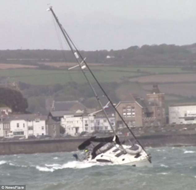 The testing conditions came as gale-force winds battered much of Cornwall at the beginning of the weekend