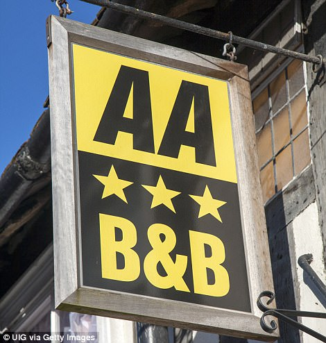 Golden gongs: The annual AA B&B Awards took place today after a panel of judges spent months scouring the UK for the very best homestays in the land