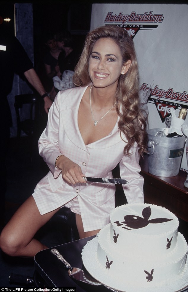 Hef's gal: Lamas started posing for Playboy in the 1990s and became Playmate of the Month for May 1996