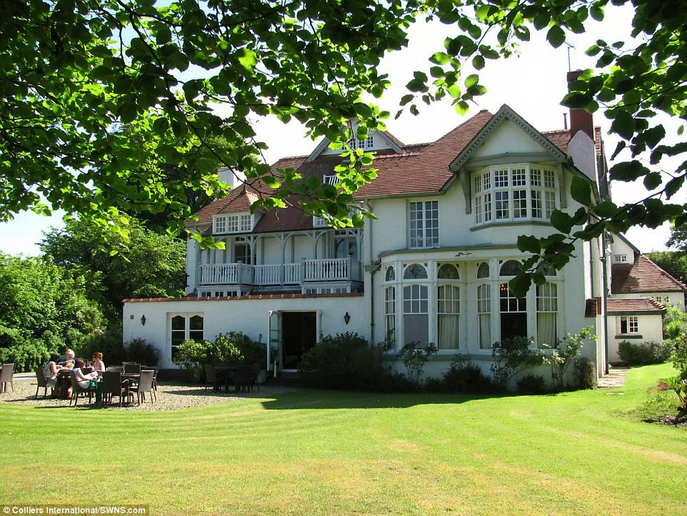 A 37-bedroom coastal hotel, pictured, with a leisure complex and 20 acres of gardens has been put on the market - for just £500,000