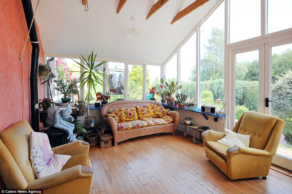 Spacious: This image of the neighbouring conservatory illustrates the amount of natural light The Stargazer gets