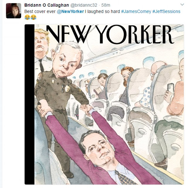 The cartoon has been branded the 'best cover ever' on Twitter as social media users debate the front cover