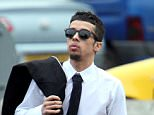 N-dubz rapper Dappy (pictured outside court in 2013) has been remanded in custody after allegedly attacking his girlfriend and threatening her with a knife