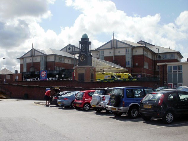 Blackpool Victoria Hospital is one of many across the country hit - operations have been cancelled and ambulances diverted
