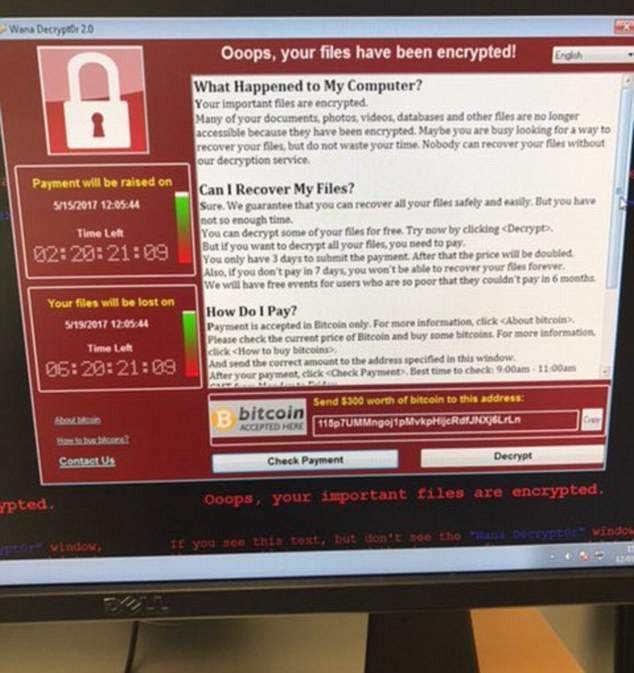 The NHS has been hit by a major cyber attack hitting computers, phones and emergency bleepers in hospitals and GP surgeries - and pop-ups like this one have appeared demanding a ransom