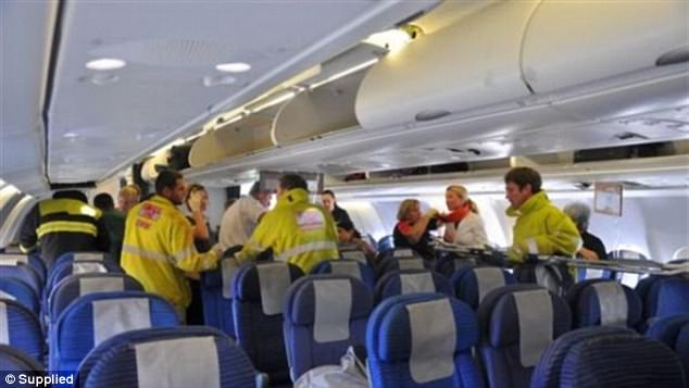 More than 100 passengers and crew members were injured in the incident when the were thrown out of their seats when the plane suddenly nosedived