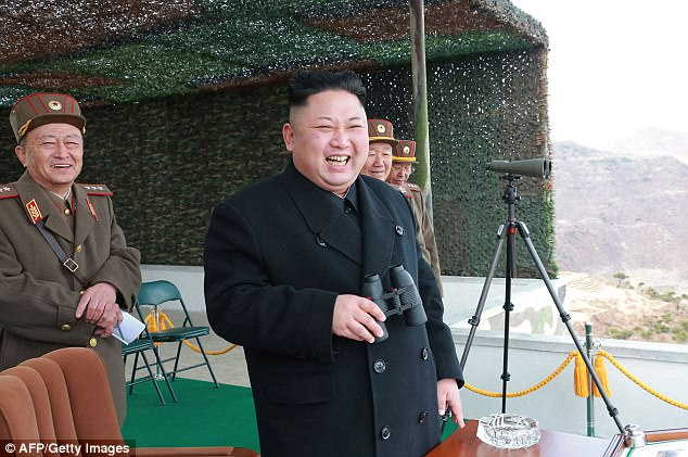 North Korea could also fall under the spotlight following accusations of state-sponsored hacking of 18 banks around the world last month. Pictured is leader Kim Jong-Un