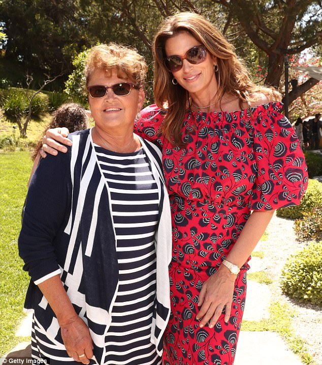 Her mama: Celebrities were quick to hit social media for Mother's Day tributes on Sunday. Cindy Crawford, 51, was one of the first, who shared an image with her mother Jennifer Sue when they were at a Best Buddies Event in Malibu the day before