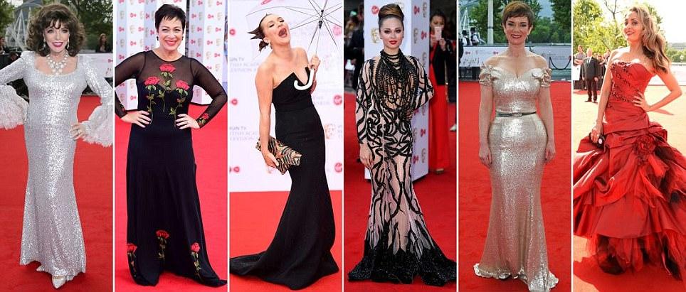 2017 BAFTA TV Awards pior-vestidos no tapete vermelho