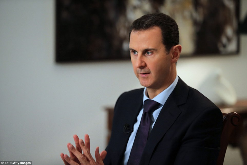 President Bashar al-Assad has been accused of sinking to a 'new level of depravity'