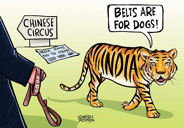 Image result for Satish Acharya cartoon on china's OBOR