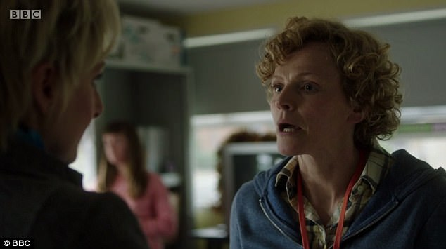 Maxine Peake as Sara Rowbotham, delivering a powerful speech to DC Oliver, played by Lesley Sharp, refusing to hand over documents police didn't want to see previously
