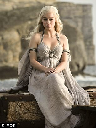 Pictured is Daenerys, a character in Game of Thrones played by actress Emilia Clarke