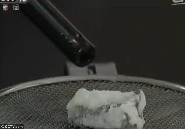 When the ice is released from the seabed , methane gas is released which can then be burned