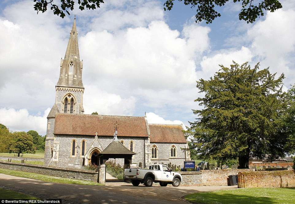 Workmen kept busy making some last-minute improvements to the church and gardens as they prepare to welcome hundreds of society types to their local place of worship