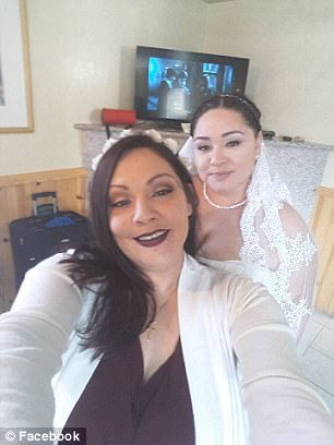 Just weeks before the poisoning, Kelly, left, was helping her sister, right, down the aisle