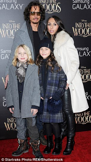 the family at the Into the Woods' film premiere