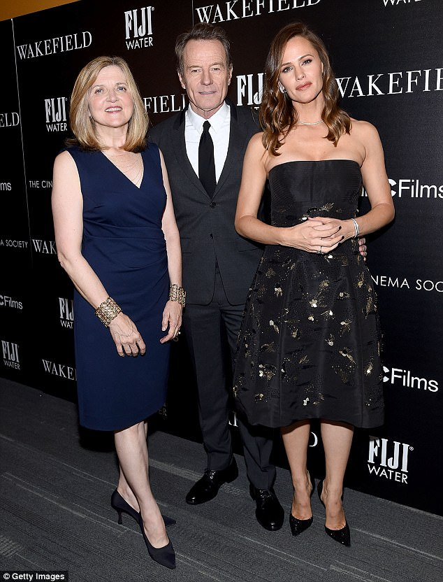 Leading the charge: Director Robin Swicord (L) posed with Cranston and Garner at the event