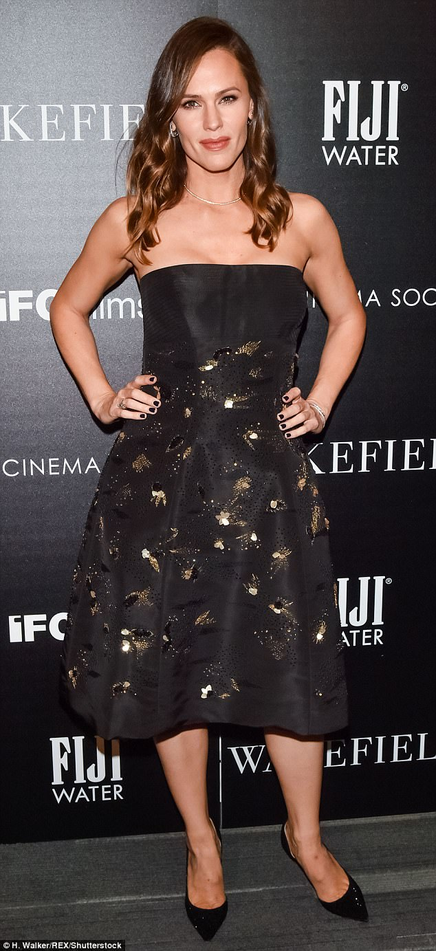 Fierce fashionista: Garner was nicely dressed at the screening in a black ensemble