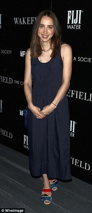 Beaming: Actress Zoe Kazan looked happy at the film premiere
