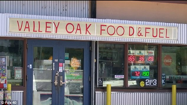 Kelly's family say the 33-year-old was leaving work on April 21, when she stopped at Valley Oak Food and Fuel gas station (pictured) in Walnut Grove for a snack. She purchased some nacho cheese which she drizzled over a bag of Doritos. Within hours she started to feel sick