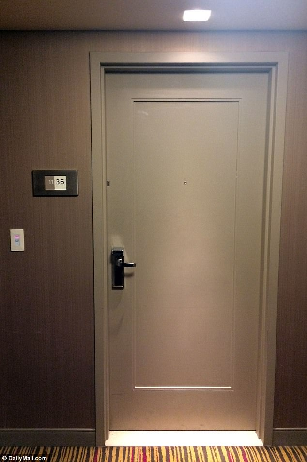 This is the door of room 1136 of the MGM Grand Detroit behind which rocker Chris Cornell spent the last few anguished minutes of his life alone, before committing suicide