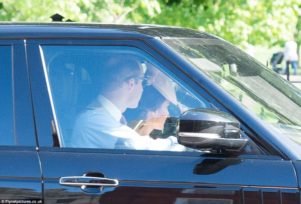 The Duke and Duchess of Cambridge, who were dressed to impress, were seen driving through London as they made their way to St Mark's Church in Berkshire with just over an hour to spare before Pippa Middleton and James Matthews's wedding