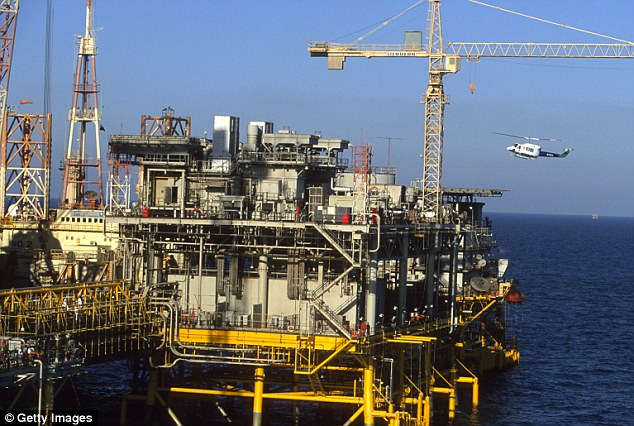 Saudi Aramco will be relying on U.S. companies to build new oil rigs like this one in the Persian Gulf