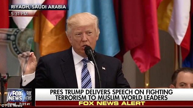 Image result for trump speach to 50 plus islamic countries in saudi arabia