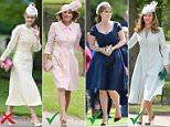 Pippa Middleton in her wedding dress designed byGiles Deacon