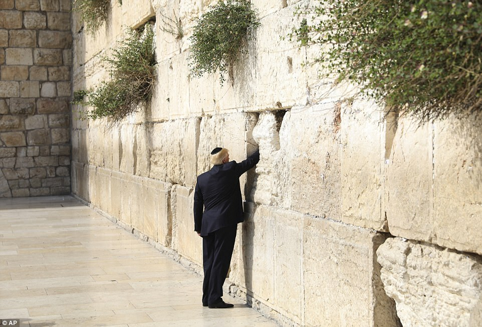 The White House said last week that Trump would go to the Western Wall without any Israeli politicians in tow. Netanyahu had asked to join the visit
