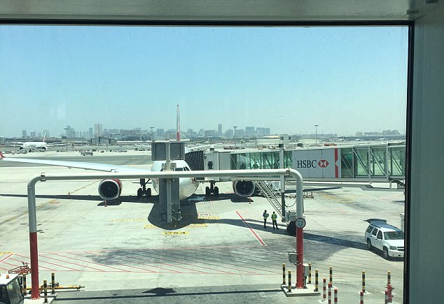 This the plane that passengers have been hauled off from Dubai to Heathrow following a bomb threat