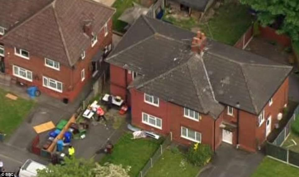 Neighbours have said they believe the occupant of the house raided by police today was of Libyan original