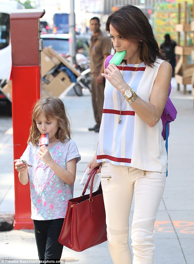Mama mode: She is divorced from Jason Hoppy with whom she has a daughter, Bryn. Pictured May 17 in NYC