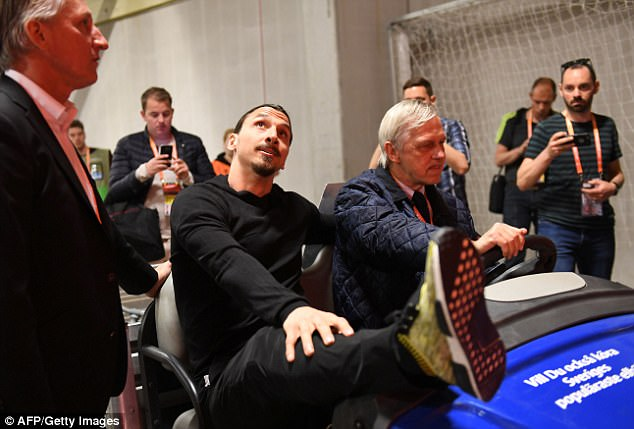 Zlatan Ibrahimovic was pictured being driven into the Friends Arena in Stockholm, Sweden