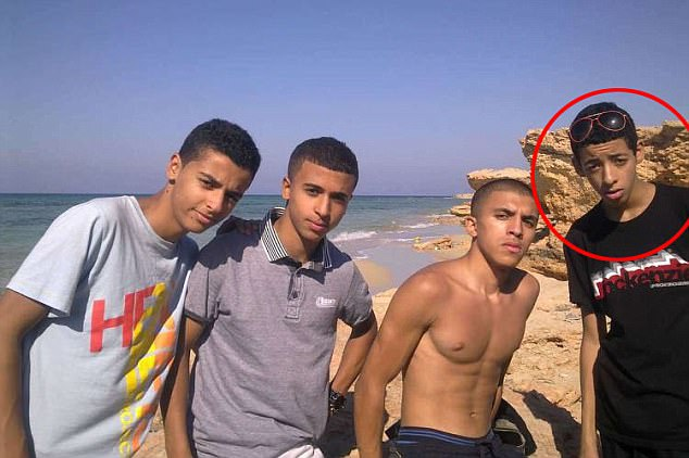 Lounging on the beach in Libya with friends and hanging out with his mates in Manchester, this is Salman Abedi (circled) as a teenage boy before he became a suicide bomber. There is a no suggestion any of the friends he is pictured with have been involved in any wrong doing