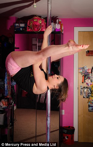 The pole dancing instructor claims she receives three or four images a week