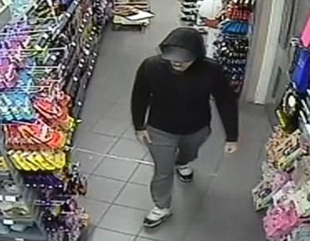 Jefe de policía de GMP Ian Hopkins dijo el jugador de 22 años de edad (en la foto en el día del ataque en Spar) ofrecido en los registros de la policía en 2012 por robo, receptación y asalto