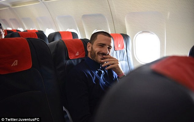Italy defender Bonucci, who was linked with Chelsea last summer, smiles for the camera