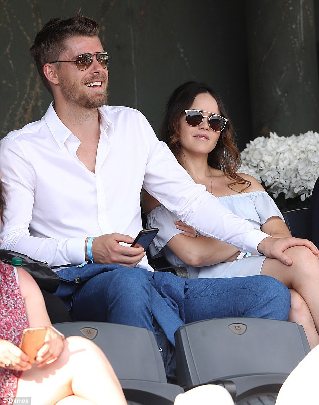 Luke Mitchell And Rebecca Breeds Attend The French Open