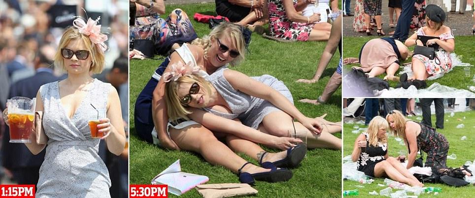 Os jogadores de corrida do Ladies Day de Epsom Derby mostram seu estilo